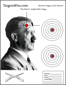Free Adolf Hitler Free Shooting Targets (Headshot)