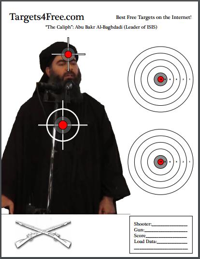 Abu Bakr Al-Baghdadi ISIS Shooting Target