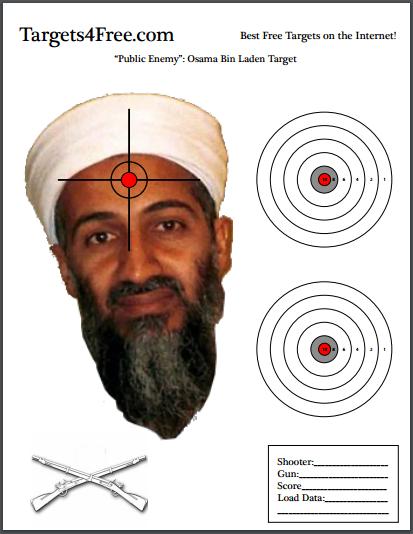 osama bin laden target shooting