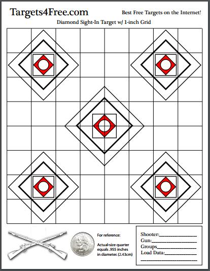Diamond Sight-In Target (Champion Redfield Style)