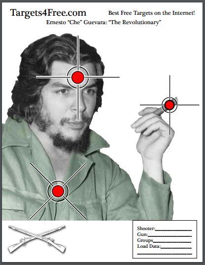 Ernesto Che Guevara Shooting Target snip