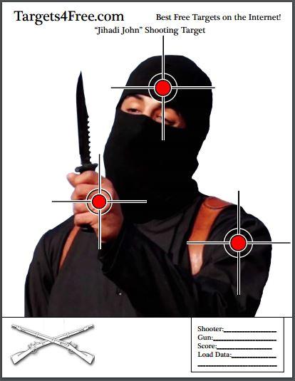Jihadi John Shooting Target