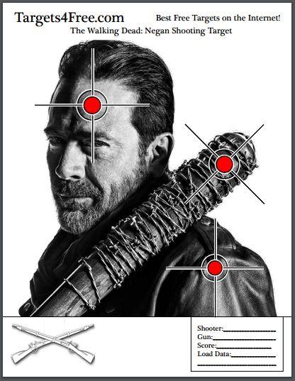 TWD Negan Shooting Target