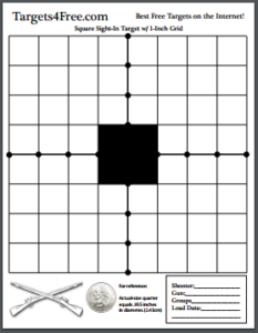 Square Sight-In Shooting Target Black