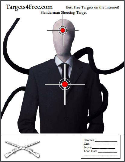 the slenderman shooting target v1