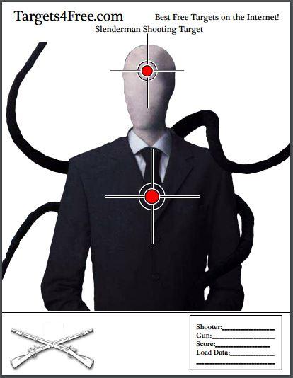 the slenderman shooting target v1