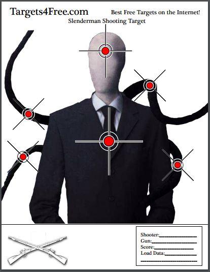 the slenderman shooting target v2