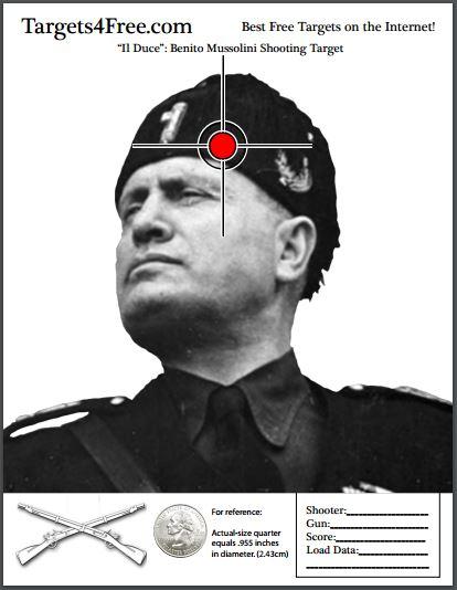 Benito Mussolini shooting target thumbnail