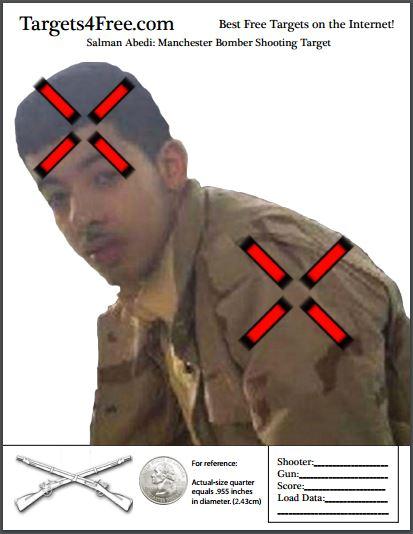 Salman Abedi Shooting Target Snip