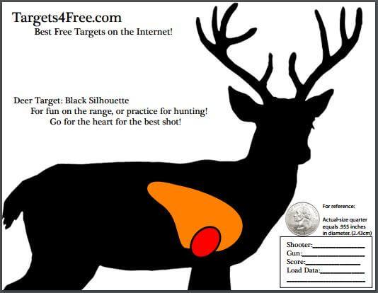 deer target shooting outline black silhouette targets4free snip