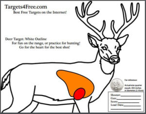 deer target shooting white outline targets4free snip