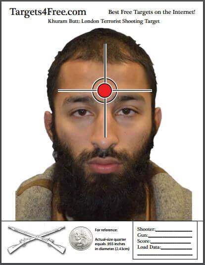 Khuram Butt London Terrorist Shooting Target Targets4Free Snip