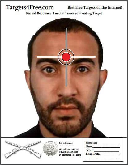 Rachid Redouane London Terrorist Shooting Target Targets4Free Snip