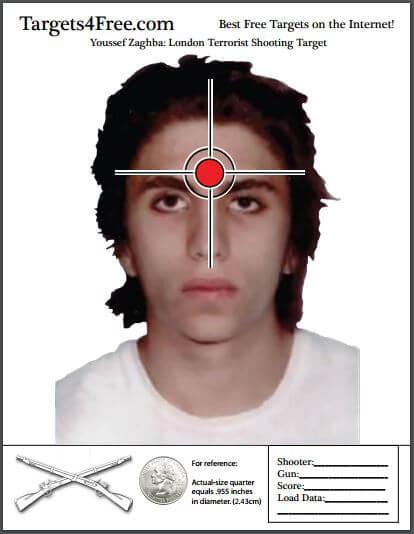 Youssef Zaghba London Terrorist Shooting Target Targets4Free Snip