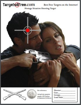 Hostage Target Printable For Free Targets4Free Preview Snip