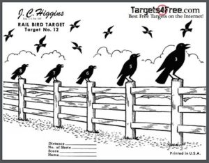 photograph relating to Silhouette Targets Printable named Chook Capturing Concentrate Silhouette (Totally free Printable Aims
