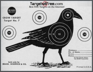 image about Printable Silhouette Shooting Targets known as Crow Concentrate Silhouette (Totally free Printable Objectives) - Goals4Absolutely free