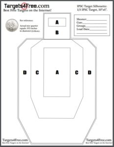 photograph about Silhouette Targets Printable named IPSC Emphasis Silhouette (Absolutely free Printable Plans) - Aims4Free of charge