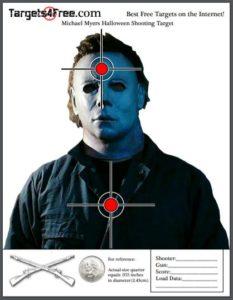Michael Myers shooting target halloween free printable targets Targets4Free
