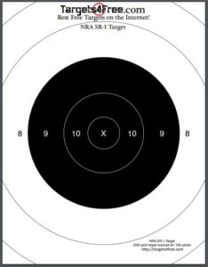 photo relating to Printable Silhouette Shooting Targets known as NRA SR-1 Concentrate (Printable Taking pictures Plans) - Goals4No cost