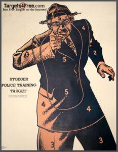 stoeger police training target vintage shooting targets targets4free snip