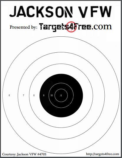 Large Bullseye Target VFW by Targets4Free