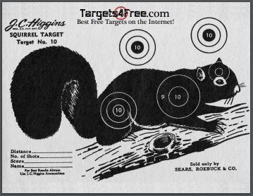 Squirrel Silhouette Target by Targets4Free Preview Snip