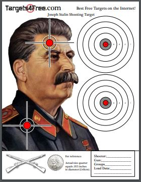 Joseph Stalin shooting target by Targets4Free