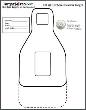 photo relating to Printable Squirrel Target named FBI QIT-99 Focus (Cost-free Printable Qualification Plans