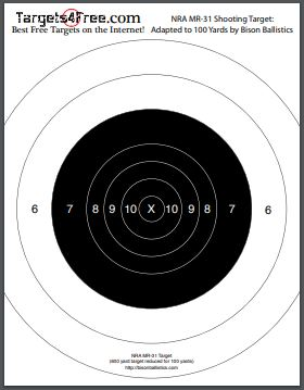 NRA MR-31 Target by Bison Ballistics and Targets4Free