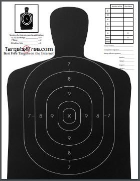 B29 Target Printable Silhouette Free Adapted By Targets4Free Preview Snip