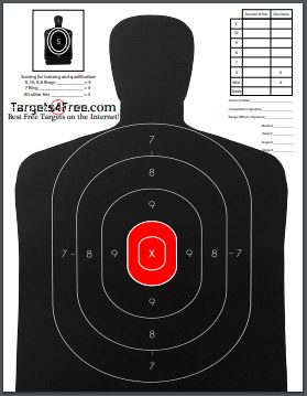 B29 Target Red Center Printable Silhouette Free Adapted By Targets4Free Preview Snip