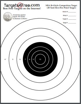 NRA B-4 Target Printable Free Adapted By Targets4Free Preview Snip