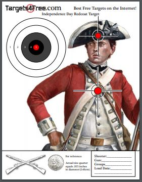 Fourth of July Redcoat Shooting Target by Targets4Free