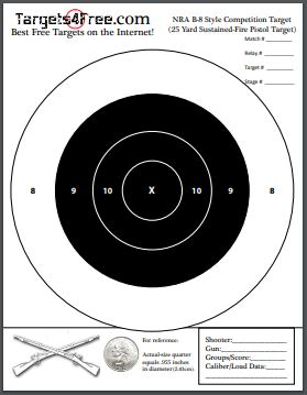 photo regarding Printable Nra Pistol Targets called Plans4Totally free - Absolutely free Printable Capturing Aims!