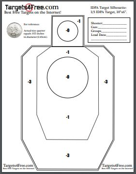 IDPA Target Silhouette Free Printable Targets by Targets4Free
