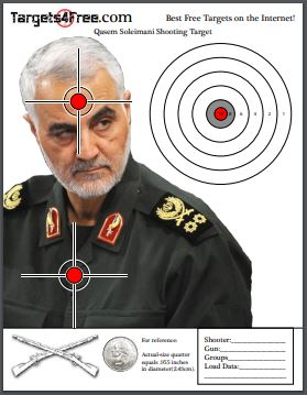 Qasem Soleimani Shooting Target by Targets4Free Preview Snip