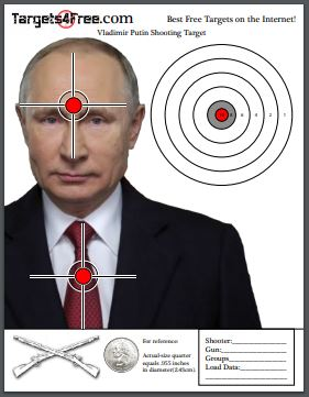 Vladimir Putin Shooting Target by Targets4Free Preview Snip